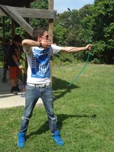 Archery instructor Kev