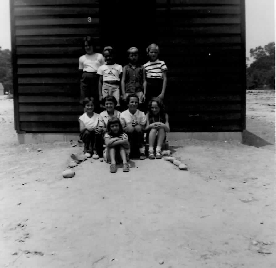 Cabin 3 and campers 1955
