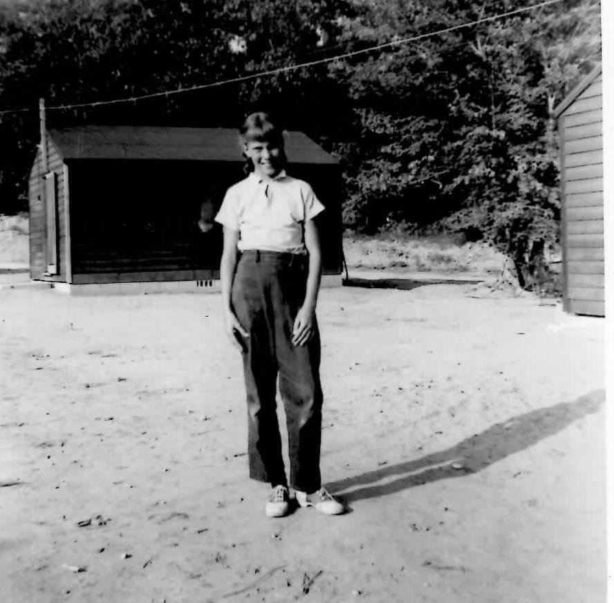 Janet a camper in 1955