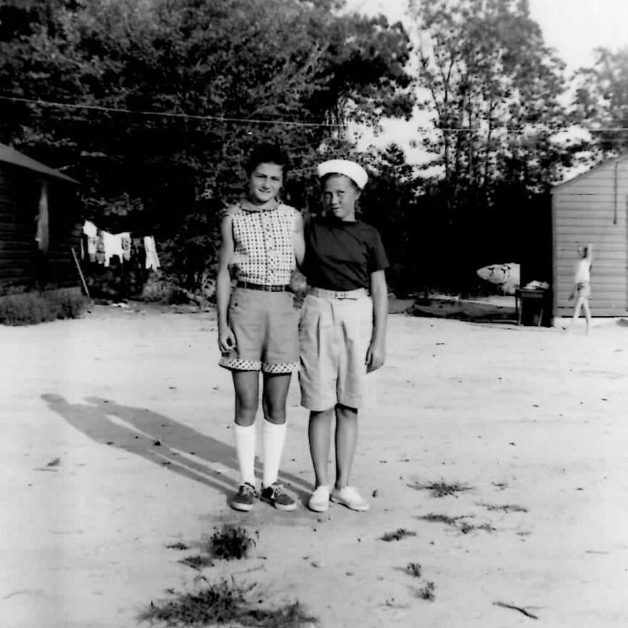 Pat and Carol cameprs 1955