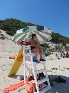 Katie Lifeguarding