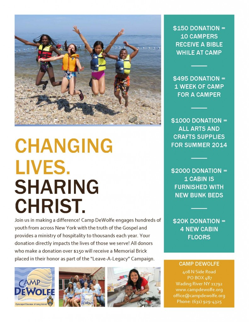 Changing Lives Flyer